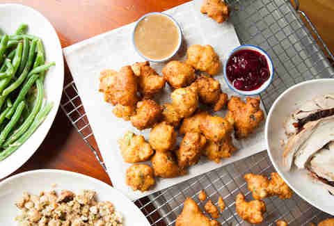 Thanksgiving Fritters -- Thrillist Recipes