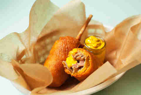 Cubano corn dogs -- Thrillist Recipes