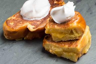 Lemon meringue French toast