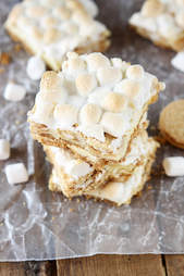 Toasted marshmallow cheesecake bars