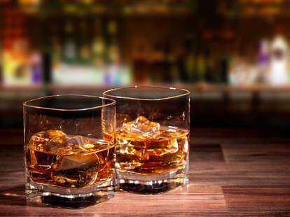 whiskey glasses with ice thrillist