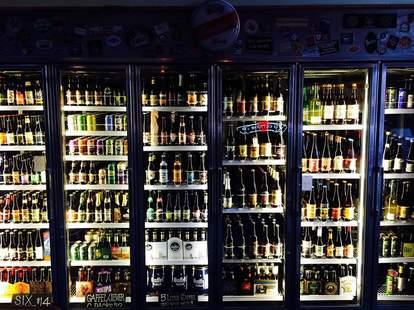 Freezers full of beer at Brouwerij Lane