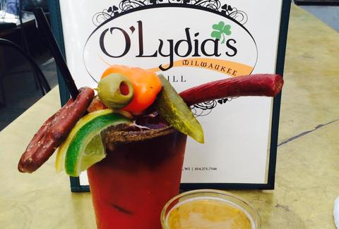 bloody mary from O'lydia's milwaukee
