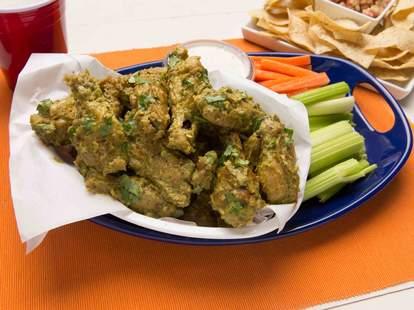 Green chili wings -- Thrillist Recipes