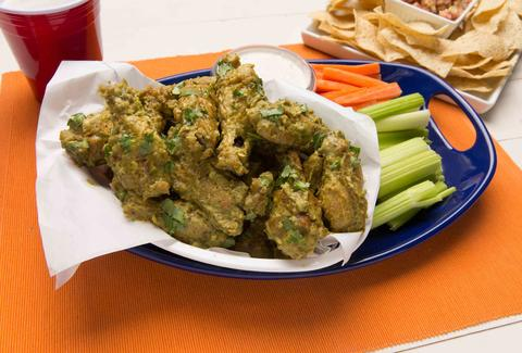 Green chili wings -- Thrillist Recipes