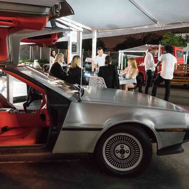 Eat Dinner in a Vintage Car Museum Like You\'re in \'Miami Vice\'