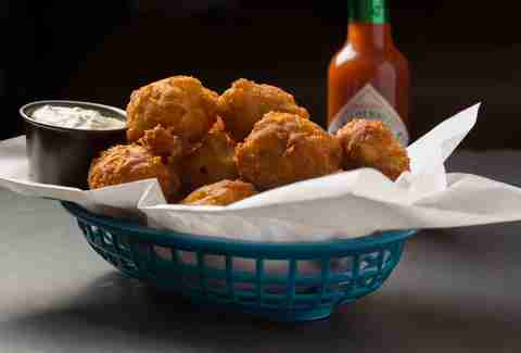 Shrimp and Grits Hush Puppies -- Thrillist Recipes