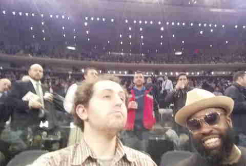Black Thought and Lee at Knicks game