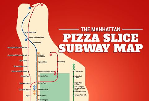 Subway Map Nyc Red Line.The Manhattan Pizza Slice Subway Map Thrillist