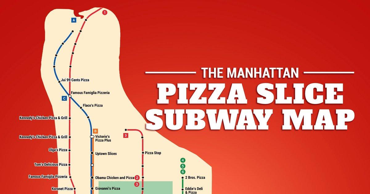 The Manhattan Pizza Slice Subway Map