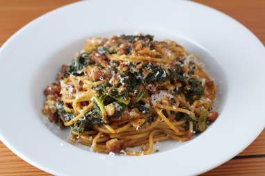 Kale and chorizo pasta