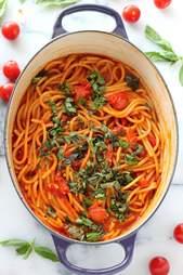 Triple tomato pasta
