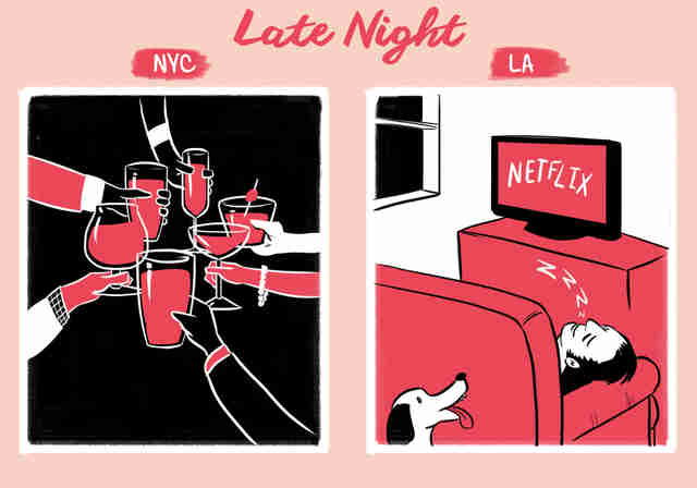 The Difference Between LA and NYC - Thrillist
