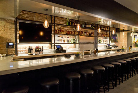 Bottle & Bine win bar interior New York City