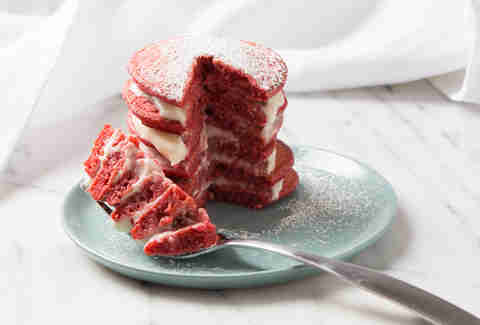 Red Velvet Pancakes -- Thrillist Recipes