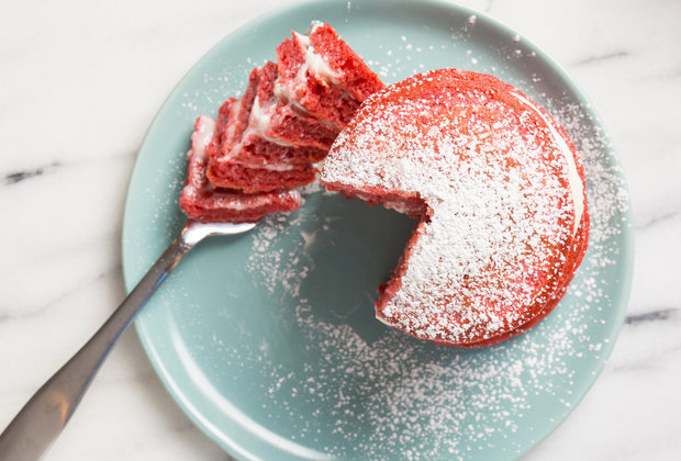 Give the Gift of Red Velvet Pancakes This Valentine's Day