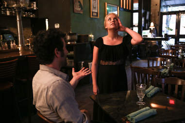 a frustrated server and an annoying restaurant patron Things You Should Never Do in a Restaurant