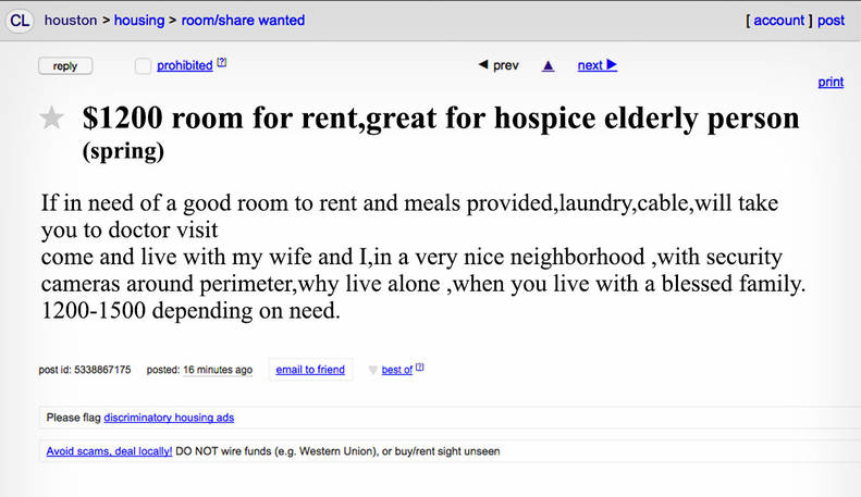 The Weirdest Houston Roommate Ads On Craigslist Thrillist