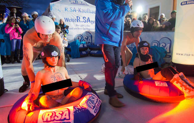 Behind the Scenes at Germany's Topless Sledding Competition