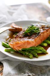 Garlic honey salmon