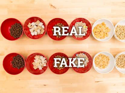cereal, fake cereal, taste test