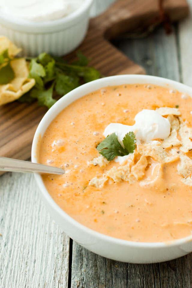 Cheesy chicken soup