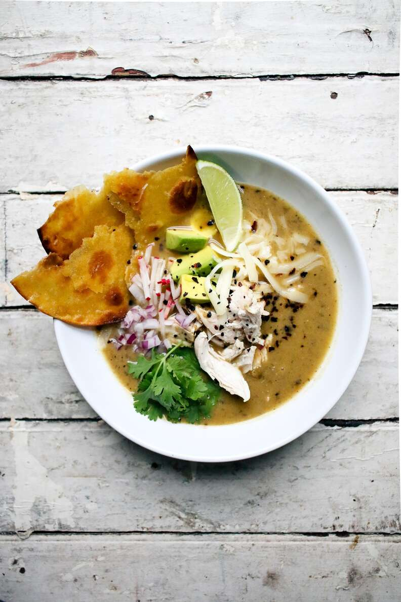 Green tortilla soup