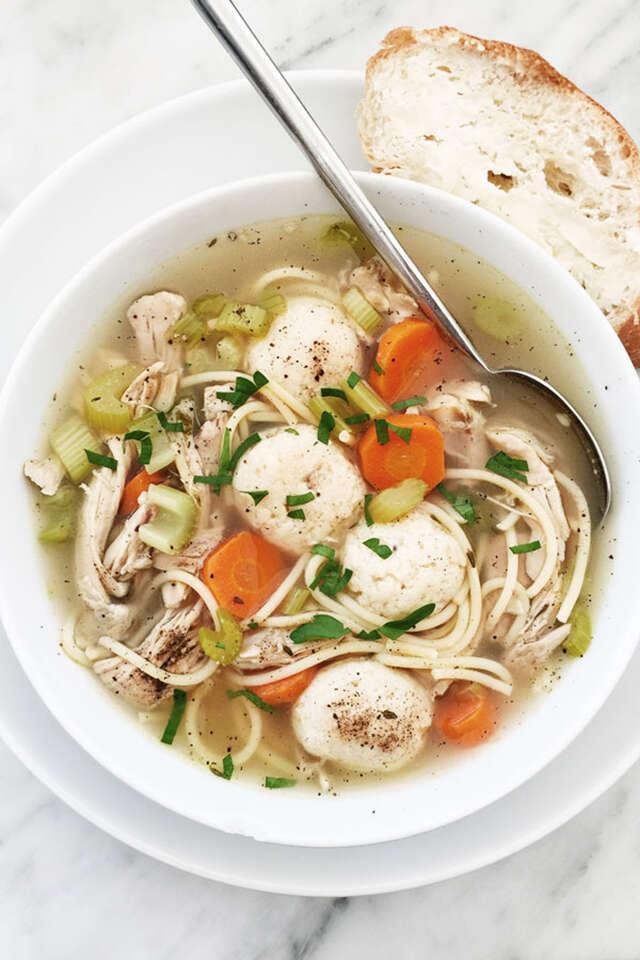 Chicken matzo soup