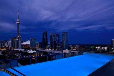 Thompson Hotel, rooftop pool, swimming pool, hotel pool