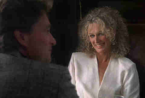 Glenn Close as Alex Forrest in Fatal Attraction movie