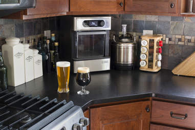PicoBrew Zymatic automated beer brewing system in kitchen