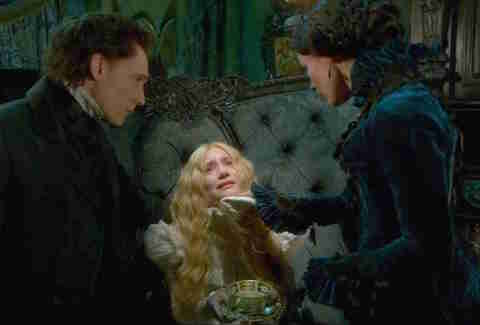 Guillermo Del Toro directs Crimson Peak, starring Mia Wasikowska, Tom Hiddleston and Jessica Chastain