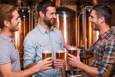 Bros drinking beers
