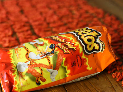 Cheetos bag and chips