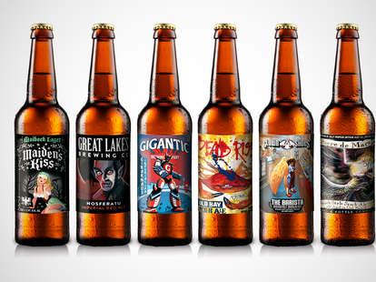 Artistic beer labels