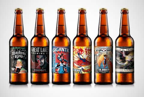 Artistic beer labels