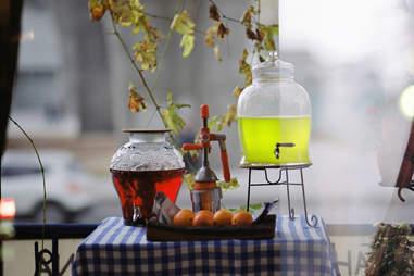 lemonade, lemonade stand, drinks