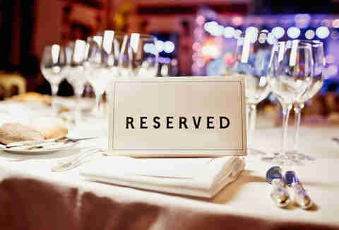 reserved, dinner party, fancy event, dinner table