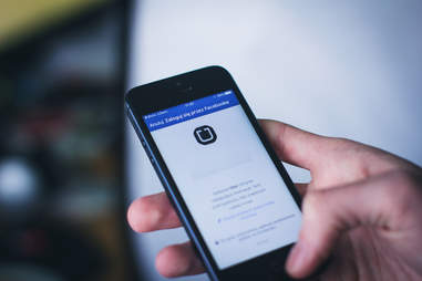 hailing an uber on facebook messenger