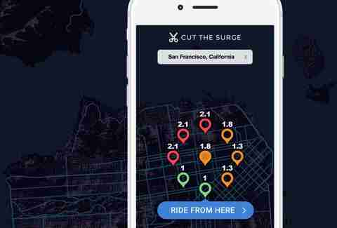 cut the surge app to lower uber prices