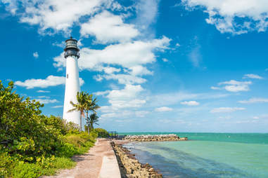 Lighthouse in Cape Florida in Key Biscayne