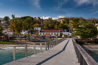 Village of Le Diamand on the island of Martinique in the Caribbean