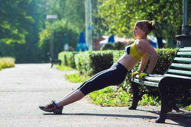 park, outdoor workouts, push ups
