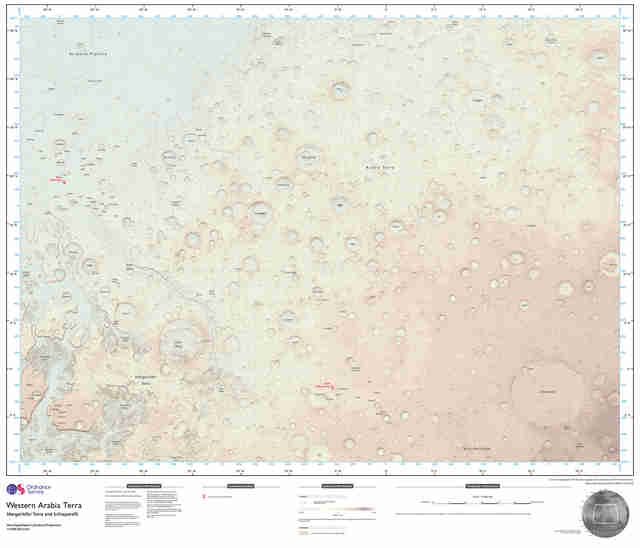 ordnance survey mars map