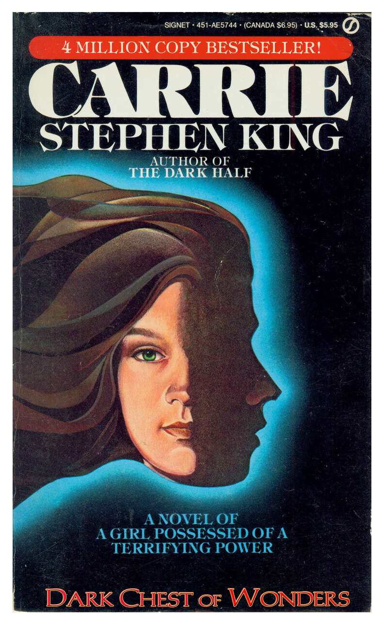Carrie cover, book, Stephen King, paperback