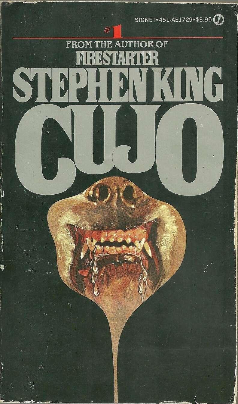 Cujo book, cover, scary dog