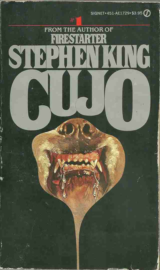 Cujo book, cover, scary dog