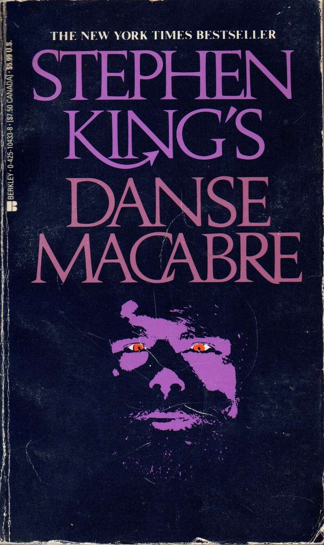 Danse Macabre book, cover, Stephen King beard