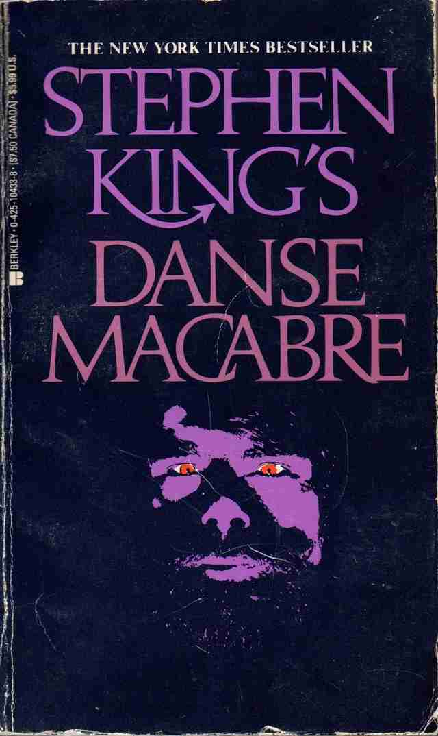 Danse Macabre book, cover, Stephen King beard