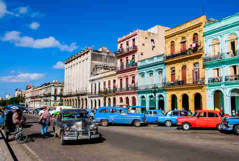 Cars in the colorful street of Havana, Cuba